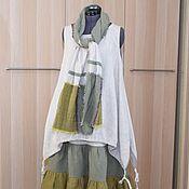 Одежда handmade. Livemaster - original item 203 Linen sundress boho skirt scarf. Handmade.