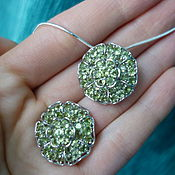 Украшения handmade. Livemaster - original item CLARIS-silver set with natural peridots. Handmade.