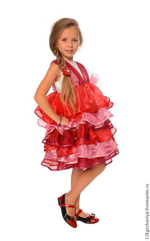 """Одежда для девочек, ручной работы. Ярмарка Мастеров - ручная работа. Купить Платье для девочки """"Вишенка счастья"""". Handmade. Платье"""