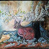 Картины ручной работы. Ярмарка Мастеров - ручная работа Картина маслом Кошка моих снов. Handmade.