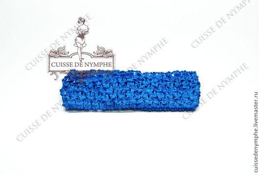 Шитье ручной работы. Ярмарка Мастеров - ручная работа. Купить Повязка на голову, синяя, 6022. Handmade. Топ, топ акриловый