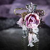 Украшения handmade. Livemaster - original item Brooch-pin made of glass flowers lampwork