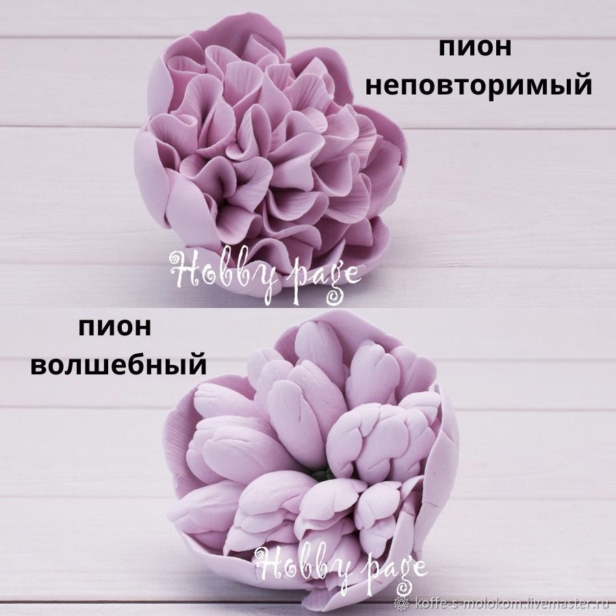 Silicone mold peony Unique, peony Magic, Form, Moscow,  Фото №1
