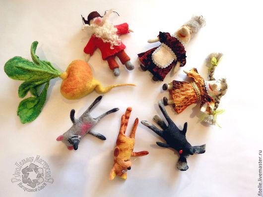"""Кукольный театр ручной работы. Ярмарка Мастеров - ручная работа. Купить """"Репка"""" Набор пальчиковых игрушек. Handmade. Кукла"""
