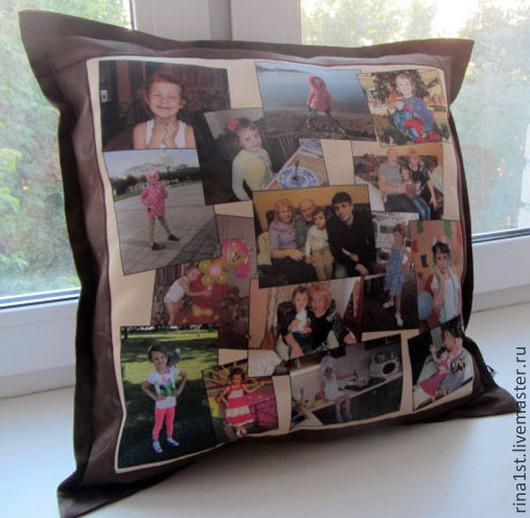 Персональные подарки ручной работы. Ярмарка Мастеров - ручная работа. Купить подушка с фото и поздравлением. Handmade. Оригинальный подарок