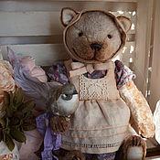 Куклы и игрушки ручной работы. Ярмарка Мастеров - ручная работа Марфа - плюшевый котенок. Handmade.