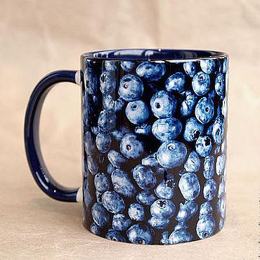 """Посуда ручной работы. Ярмарка Мастеров - ручная работа Чашка """"Черника"""". Handmade."""