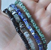 Материалы для творчества handmade. Livemaster - original item Natural stones chips thread 11cm. Handmade.