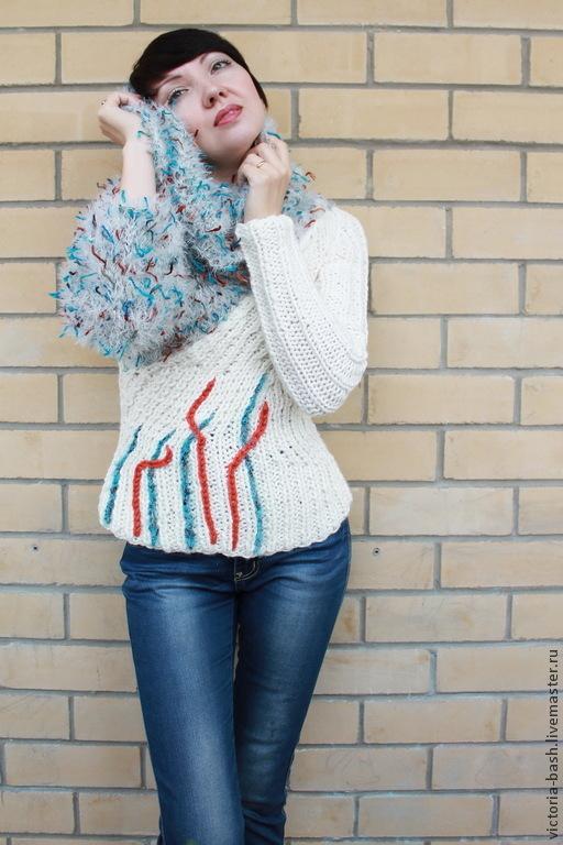 """Кофты и свитера ручной работы. Ярмарка Мастеров - ручная работа. Купить Вязаный свитер """"Ледяной риф"""". Handmade. Абстрактный"""