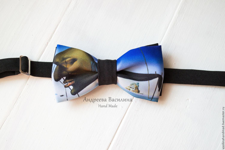 Ties & Bow Ties handmade. Livemaster - handmade. Buy Tie Sleep/Salvador Dali.Butterfly, leonardo, frida, creative gift