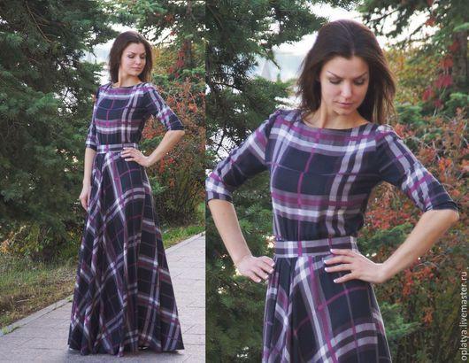 осеннее платье, платье для осени, платье на осень, клетчатое платье, платье в клетку, клетчатое длинное платье, платье в пол, длинное платье. длинное платье в клетку, осеннее платье в клетку, платье