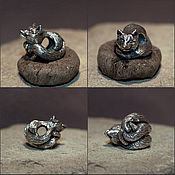 Материалы для творчества handmade. Livemaster - original item Kitsune charm. Handmade.