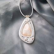 Украшения handmade. Livemaster - original item Pendant: with white granite. Handmade.