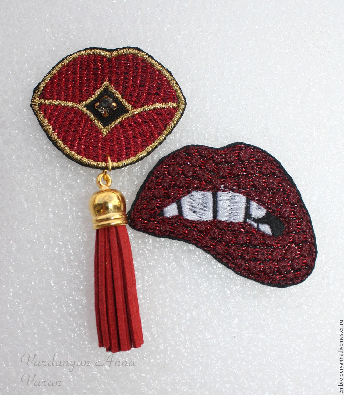Дизайн губы машинной вышивки 93