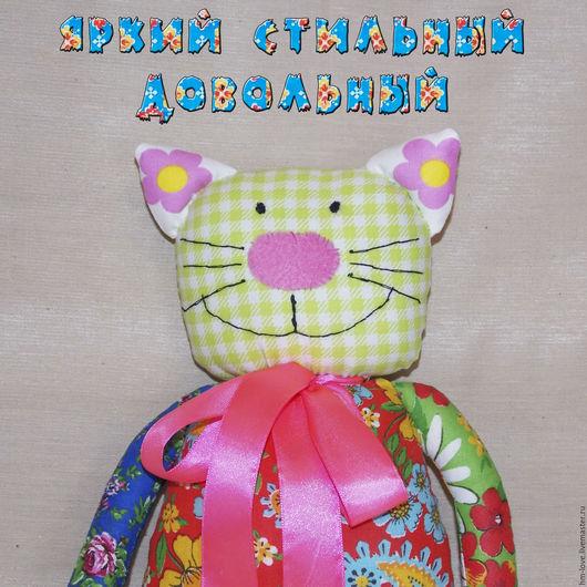 """Игрушки животные, ручной работы. Ярмарка Мастеров - ручная работа. Купить Игрушка Кот """"Стиляга"""". Мягкая игрушка Кот. Коты.. Handmade."""