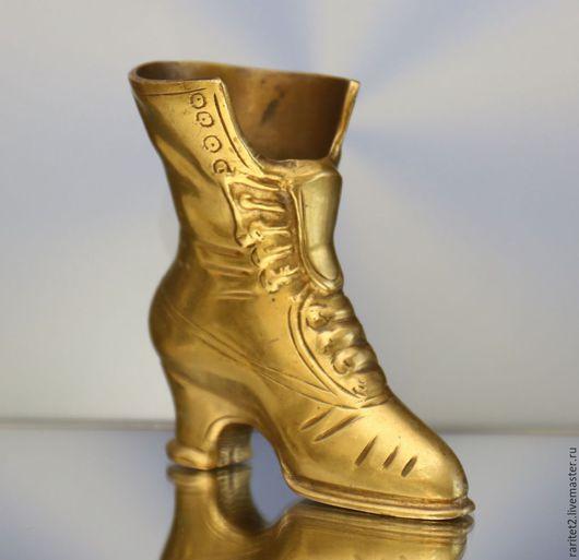 Винтажные предметы интерьера. Ярмарка Мастеров - ручная работа. Купить Сапог ваза ботинок бронза латунь Англия 2. Handmade.