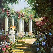 """Картины и панно ручной работы. Ярмарка Мастеров - ручная работа Картина маслом """"В цветущем парке"""". Handmade."""