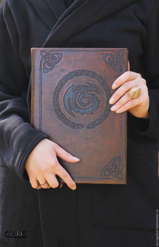 Ролевые игры ручной работы. Ярмарка Мастеров - ручная работа. Купить Книга Драконов. Handmade. Коричневый, беззубик, натуральная кожа