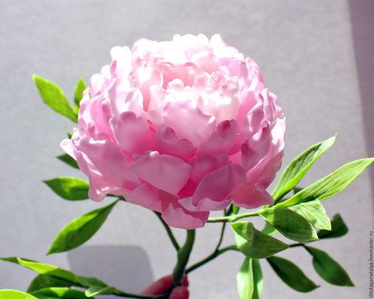 """Искусственные растения ручной работы. Ярмарка Мастеров - ручная работа. Купить цветок из полимерной глины """"Пион"""". Handmade. Розовый, легкость"""