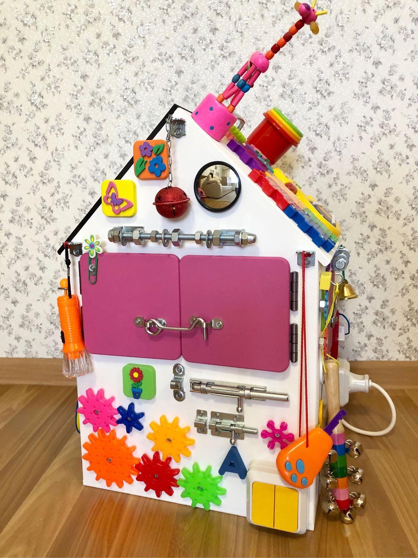 Бизиборд дом для девочки от 8 месяцев, Бизиборды, Сургут,  Фото №1