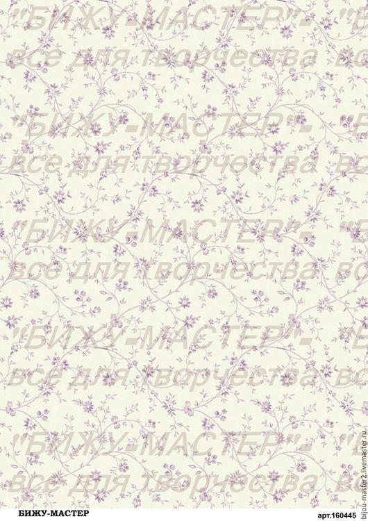 Декупаж и роспись ручной работы. Ярмарка Мастеров - ручная работа. Купить Декупажная карта рисовая А4 арт.160445 Фон с цветочками, Бижу-Мастер. Handmade.