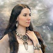 "Украшения handmade. Livemaster - original item Jewelry set ""Eowyn"" - necklace, earrings, bracelet. Handmade."