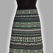 Одежда ручной работы. Ярмарка Мастеров - ручная работа Юбка перуанка в зеленых тонах. Handmade.