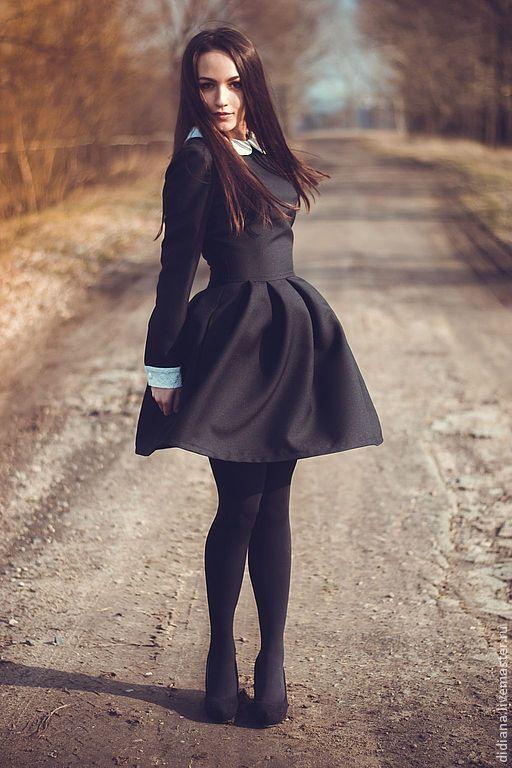 Платья ручной работы. Ярмарка Мастеров - ручная работа. Купить Платье Школьница. Handmade. Ретро стиль, черное платье