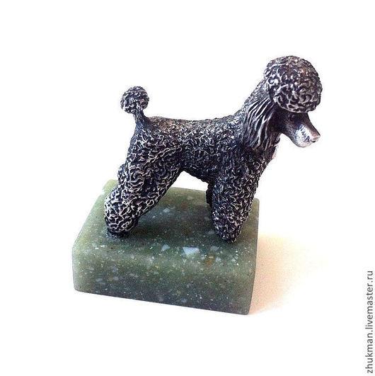 Миниатюрная фигурка `Пудель`. Есть статуэтки собак других пород: болонка, эрдельтерьер, пекинес, спаниель, такса. Есть фигурки других животных: медведь, слон, черепаха, кошка, мышь, крыса, змея (кобра