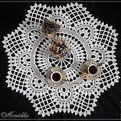 Для дома и интерьера ручной работы. Ярмарка Мастеров - ручная работа Скатерть вязаная для чайного столика круглая. Handmade.