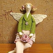 Куклы и игрушки ручной работы. Ярмарка Мастеров - ручная работа Тильда ангел Аннушка. Handmade.