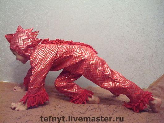 Детские карнавальные костюмы ручной работы. Ярмарка Мастеров - ручная работа. Купить Дракоша  огненный. Handmade. Дракон, коралловый