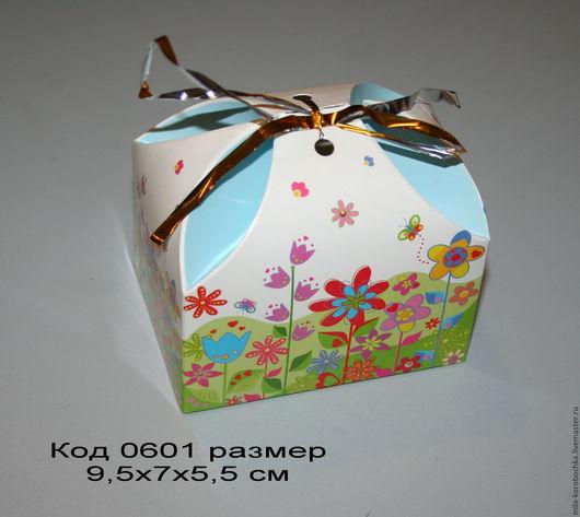 Код 0601 коробочка, бонбоньерка `сундучок большой` размер 9.5х7х5,5 см Закрывается при помощи завязочки (в комплект не входит).