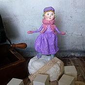 Куклы и игрушки handmade. Livemaster - original item Cotton toy. Girl on skates.. Handmade.