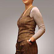 Одежда ручной работы. Ярмарка Мастеров - ручная работа Брючный костюм: жилет и брюки. Handmade.