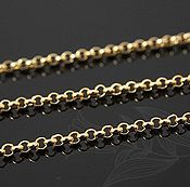 Материалы для творчества handmade. Livemaster - original item 50 smcapache ROLO chain 1.6 mm gold plating th. Korea (art. 2515). Handmade.