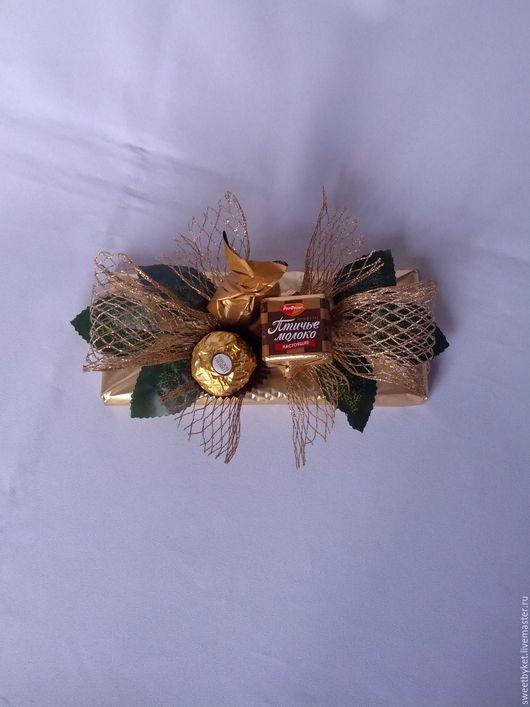 """Букеты ручной работы. Ярмарка Мастеров - ручная работа. Купить Букет из конфет """"Белиссимо"""". Handmade. Букет из конфет, подарок сладкоежке"""