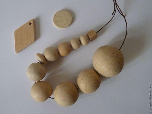 Для украшений ручной работы. Ярмарка Мастеров - ручная работа. Купить Бусины бук. Handmade. Слингобусы, бусины, деревянные бусины