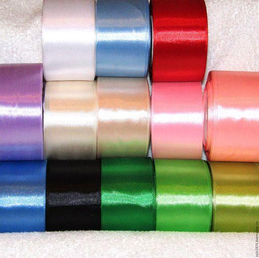 Шитье ручной работы. Ярмарка Мастеров - ручная работа. Купить Лента атласная 50 мм,15 цветов. Handmade. упаковка
