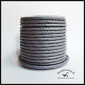 Материалы для творчества ручной работы. Ярмарка Мастеров - ручная работа Серый плетеный шнур 5мм Индия. Handmade.