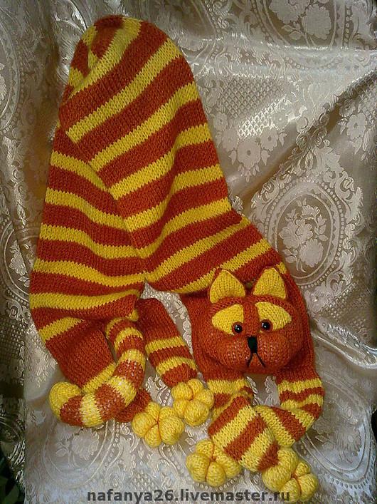 Шапки и шарфы ручной работы. Ярмарка Мастеров - ручная работа. Купить Котошарф. Handmade. Комбинированный, шарфик, шерсть