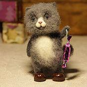 Куклы и игрушки ручной работы. Ярмарка Мастеров - ручная работа Кот с хлопушкой. Handmade.