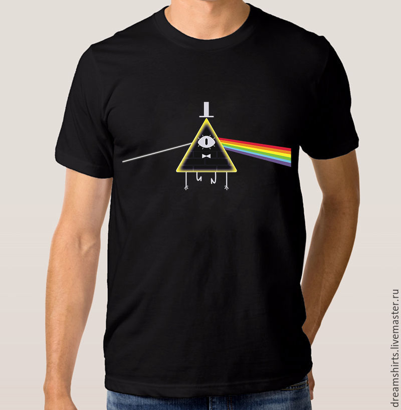 "Футболка с принтом ""Pink Floyd - Bill Cipher"", T-shirts, Moscow,  Фото №1"