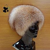 Аксессуары handmade. Livemaster - original item fur hat women`s knitted lining fox fur moth df-4. Handmade.