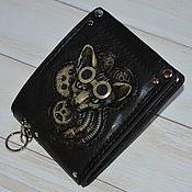 Сумки и аксессуары handmade. Livemaster - original item Steampunk wallet with cat. Handmade.
