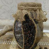 Посуда ручной работы. Ярмарка Мастеров - ручная работа Банка для кофе. Handmade.