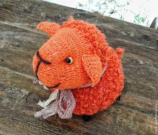 """Куклы и игрушки ручной работы. Ярмарка Мастеров - ручная работа. Купить Овечка вязаная"""" Оранжевое небо"""". Handmade. Оранжевый, вязание"""