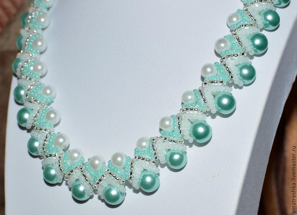 Ожерелье из бисера своими руками мастер 85