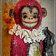 """Мишки Тедди ручной работы. Ярмарка Мастеров - ручная работа. Купить Обезьянка """"Марика"""". Handmade. Ярко-красный, опилки древесные"""