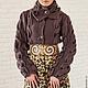 """Верхняя одежда ручной работы. Пальто """"Леопардовый какао"""". Елена Velena. Ярмарка Мастеров. Связать на заказ, пальто из шерсти"""